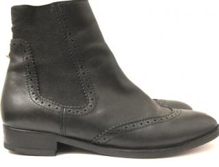 Balenciaga Black Leather Chelsea Boots
