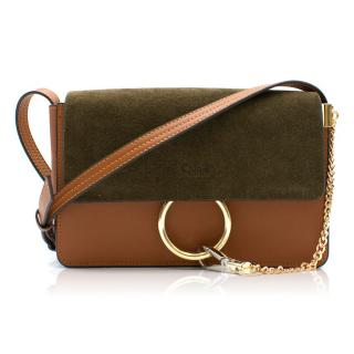 Chloe Leather & Suede Small Faye Bag