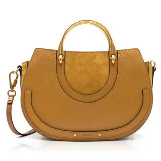 Chloe Tan Brown Pixie Medium Shoulder Bag
