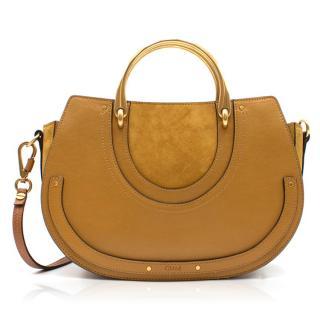 Chloe Tan Brown Pixie Medium Shoulder Bag