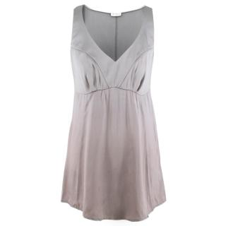 Brunello Cucinelli Silver Silk Top