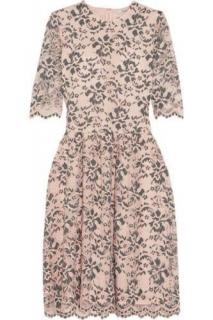 Ganni Flynn Pink & Grey Lace Dress