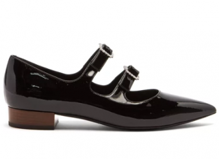 Gucci Liv crystal-buckle patent leather flats - Current