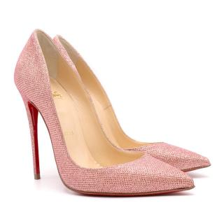 Christian Louboutin Pink So Kate Poudre Glitter Pumps