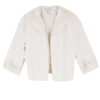 Christian Dior Boutique Cream Cropped Blazer