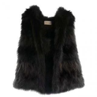 Yves Salomon dyed fox fur vest