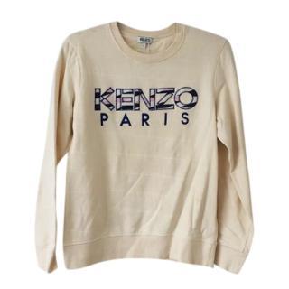 Kenzo Logo Cream Sweater