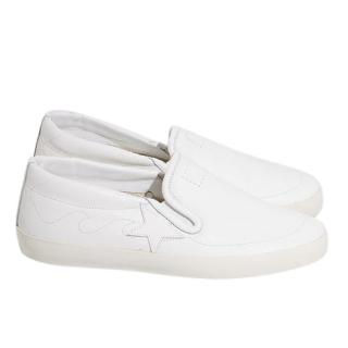 Golden Goose Deluxe Brand White 'Hanami' Slip-On Sneakers