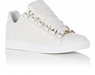 Balenciaga white leather arena low top trainers