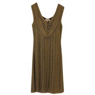 Temperley gold knitted dress -vintage