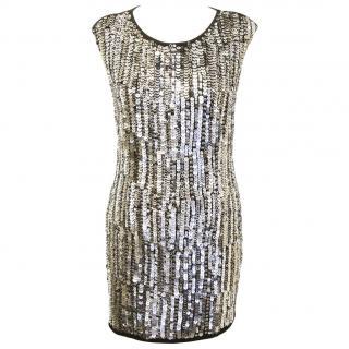 Philipp Plein 'Midnight Chain' Embellished Dress