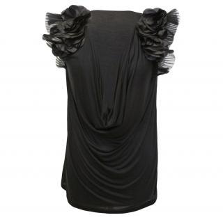 Valentino floral embellished silk top