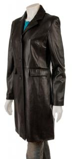 Kenneth Cole Reaction Leather Coat Jacket