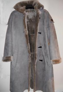 Nicole Farhi Sheared Shearling Duffle Coat