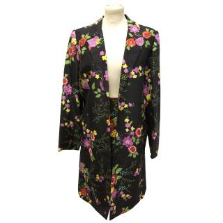 Silk Chacok two piece floral cocktail suit