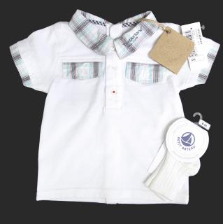 Timberland baby white t shirt with a free pair of socks included