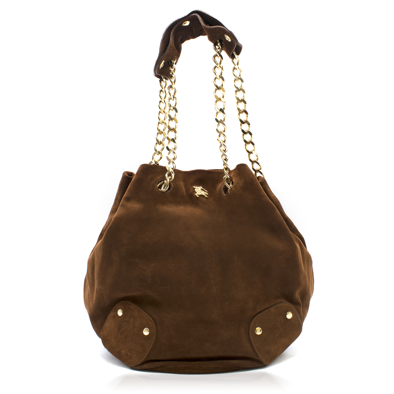 58f75b7e5b Burberry Brown Suede Bucket Bag