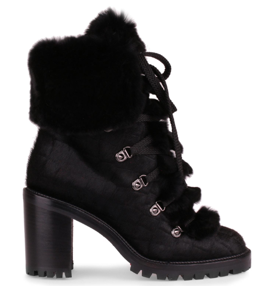 Christian Louboutin Fanny 70 Black Pony Boot
