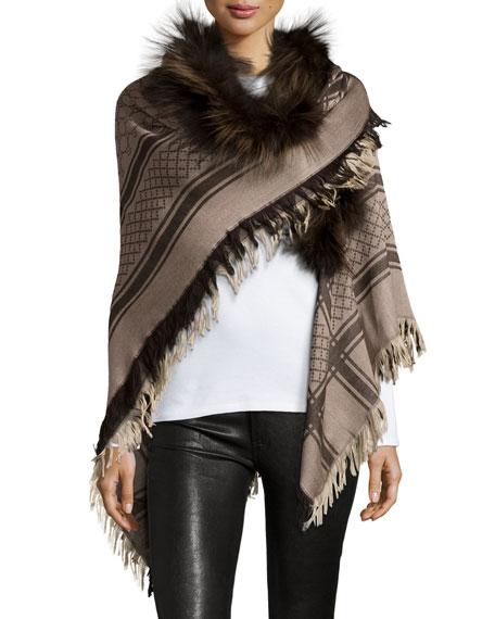 e3b5fbeec250 Gucci Gg Wool Fox Fur Stole | HEWI London