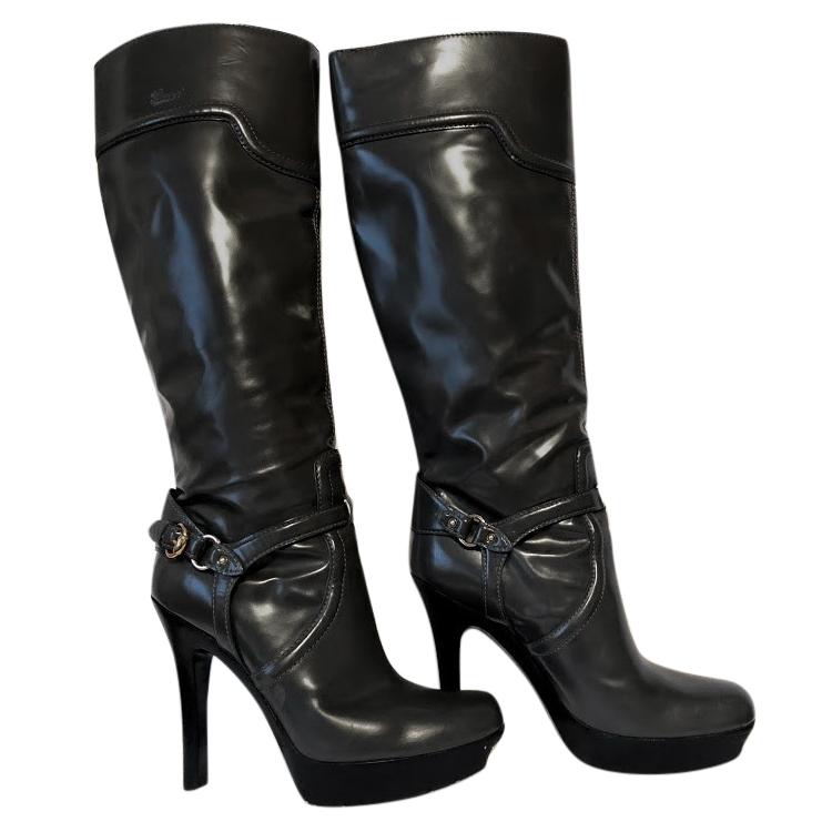 4af4c0140a Gucci Grey Platform Boots | HEWI London