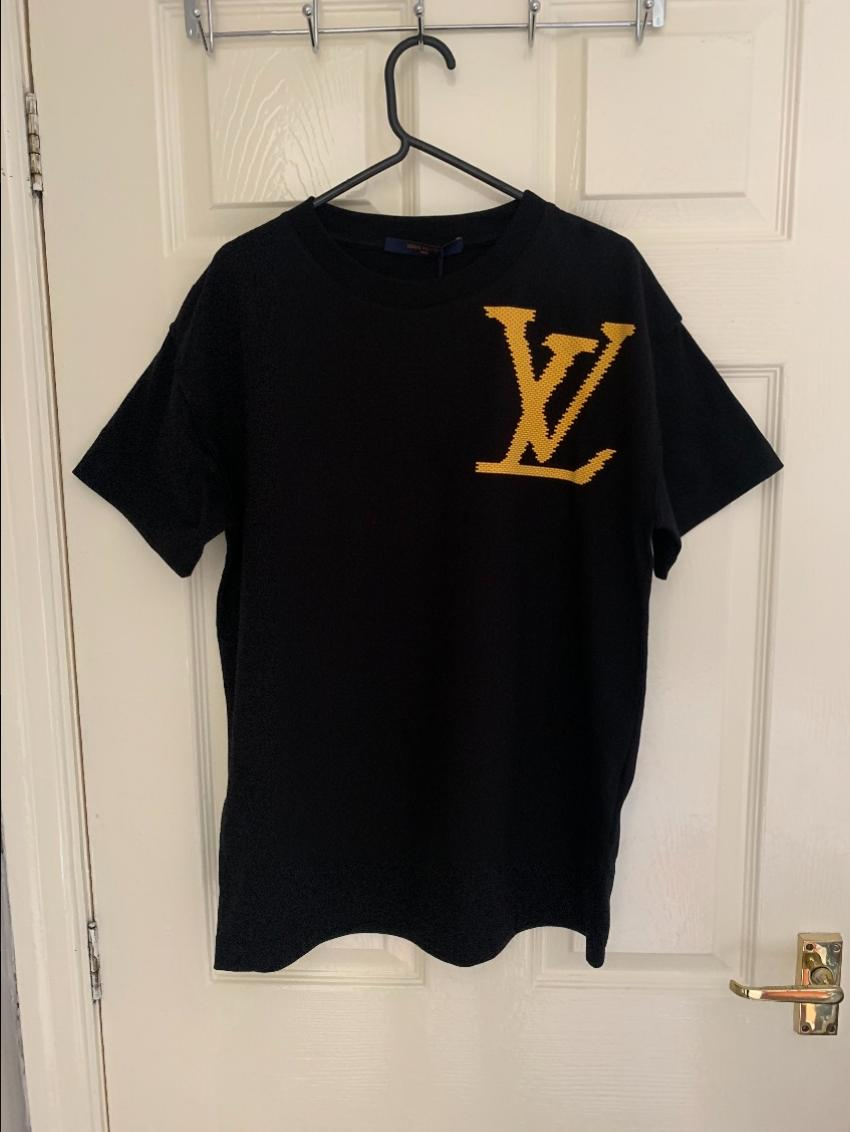 09ce69452c26 Louis Vuitton X Virgil Abloh Yellow Brick T Shirt. 22. 12345