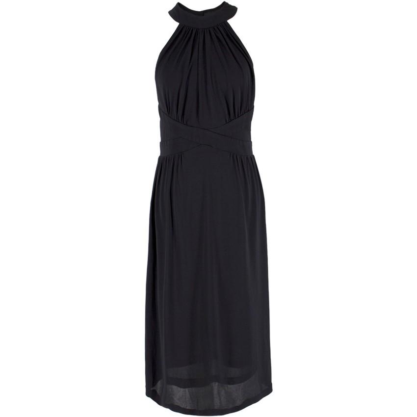 Zimmermann Black High Neck Criss Cross Dress