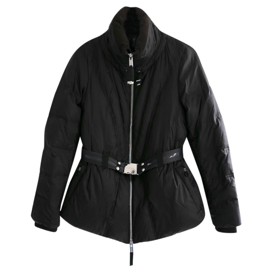Claire Campbell Black Adjustable Hem Puffa Coat