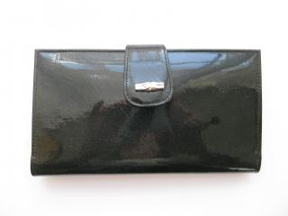 Longchamp black patent leather wallet