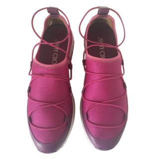 Jimmy Choo Purple Andrea Sneakers