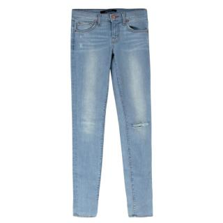 J Brand Blue Skinny Distressed Jeans