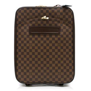Louis Vuitton Brown Damier Ebene Pegase 55 Rolling Luggage