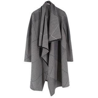 Christian Dior Monochrome Patterned Wool Cardigan