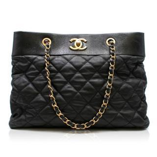 Chanel Black Quilted Shoulder Tote