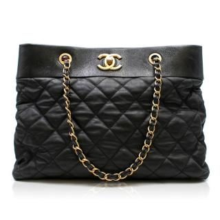 Chanel Black Quilted Shoulder Tote
