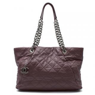 Chanel Burgundy Quilted Shoulder Bag