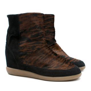 Isabel Marant Tiger Print Ankle Boots