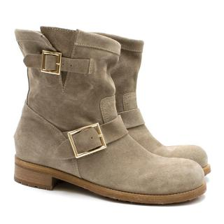 Jimmy Choo Stone Suede Ankle Boots