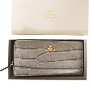 Vivienne Westwood Royal Oak Taupe Round Wallet