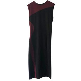 Stella Mccartney Bodycon Black & burgundy Dress