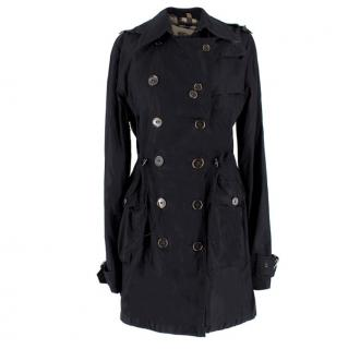 Burberry Black Short Trenchcoat