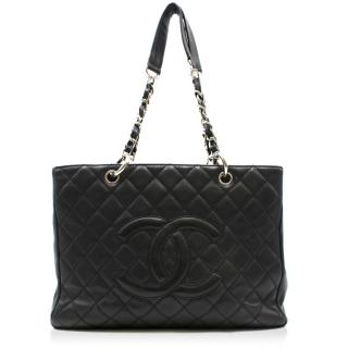 Chanel Black Caviar Grand Shopping Tote