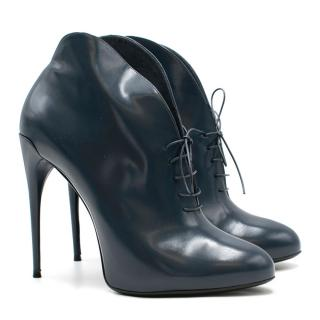Gucci Navy Caspian Stiletto Booties