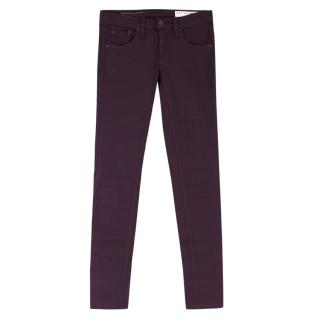 Rag & Bone Dark Purple Skinny Jeans