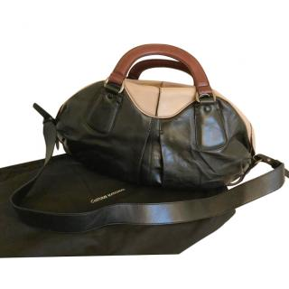 Costume National Leather Tote Bag