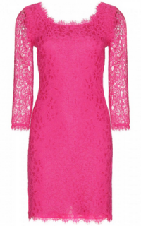 Diane von Furstenberg Fuschia Zarita Dress