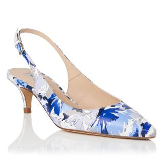 LK Bennett Mira Printed Kitten Heel Sling-Backs