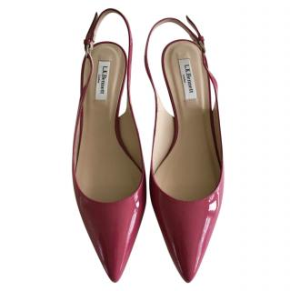 LK Bennett raspberry pink slingback shoes