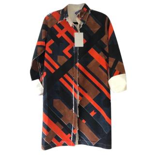 Emilio Pucci Archive Print Silk Shirt Dress