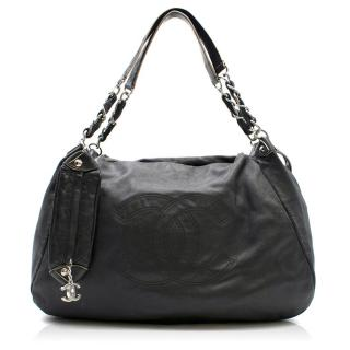 Chanel Black Caviar Large Shopping Tote