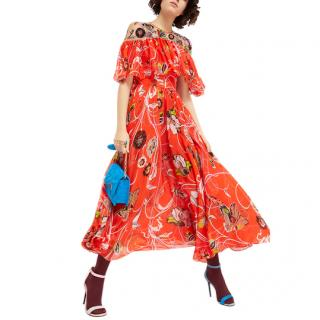Emilio Pucci Embroidered Silk Catwalk Dress